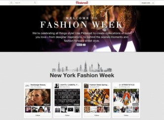 fashion week - pinterest hub
